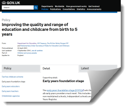 DfE EYFS the Statutory Framework