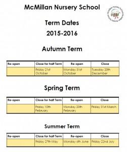 term dates 2015-16